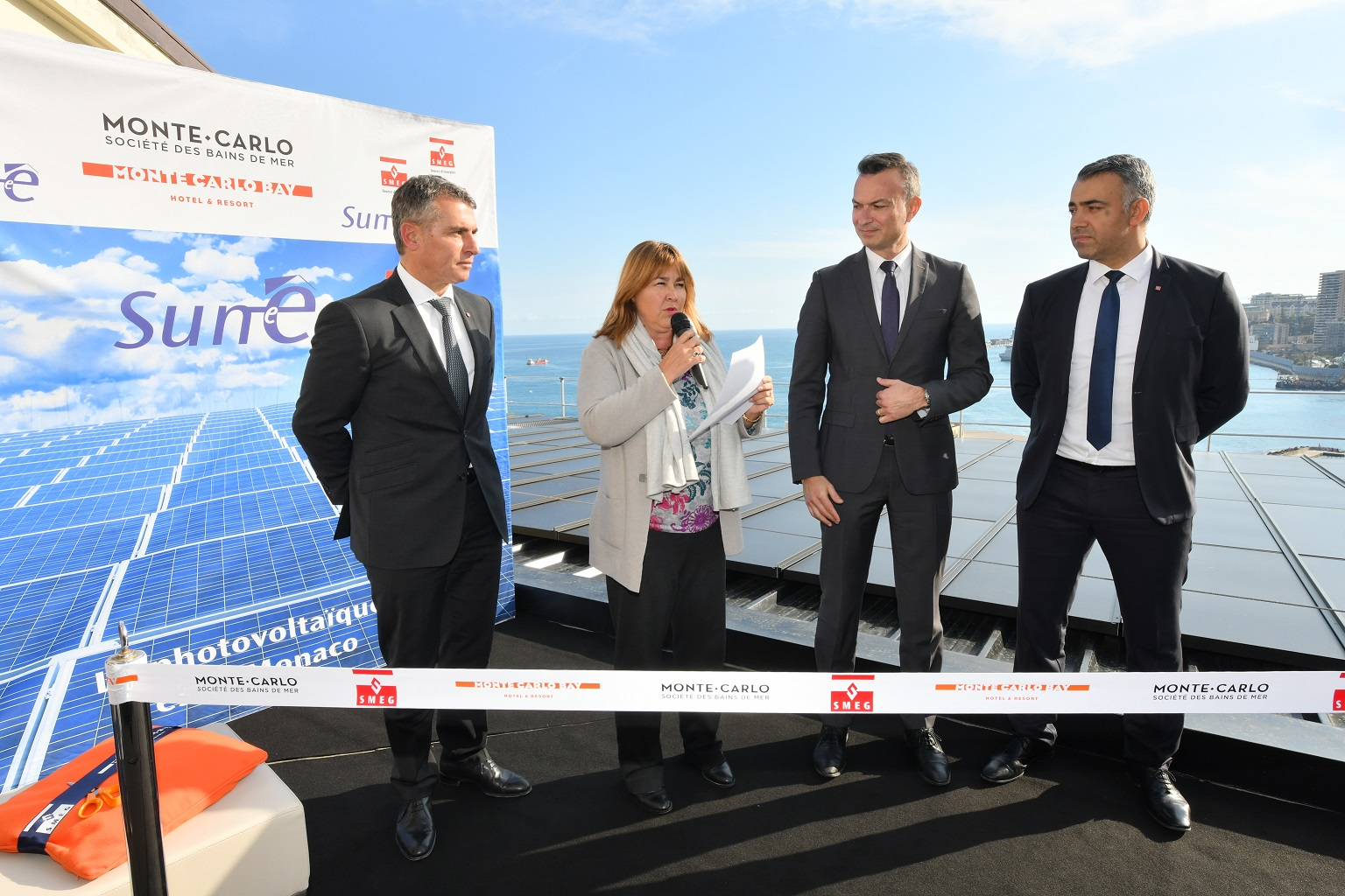 Inauguration Parc solaire MC Bay