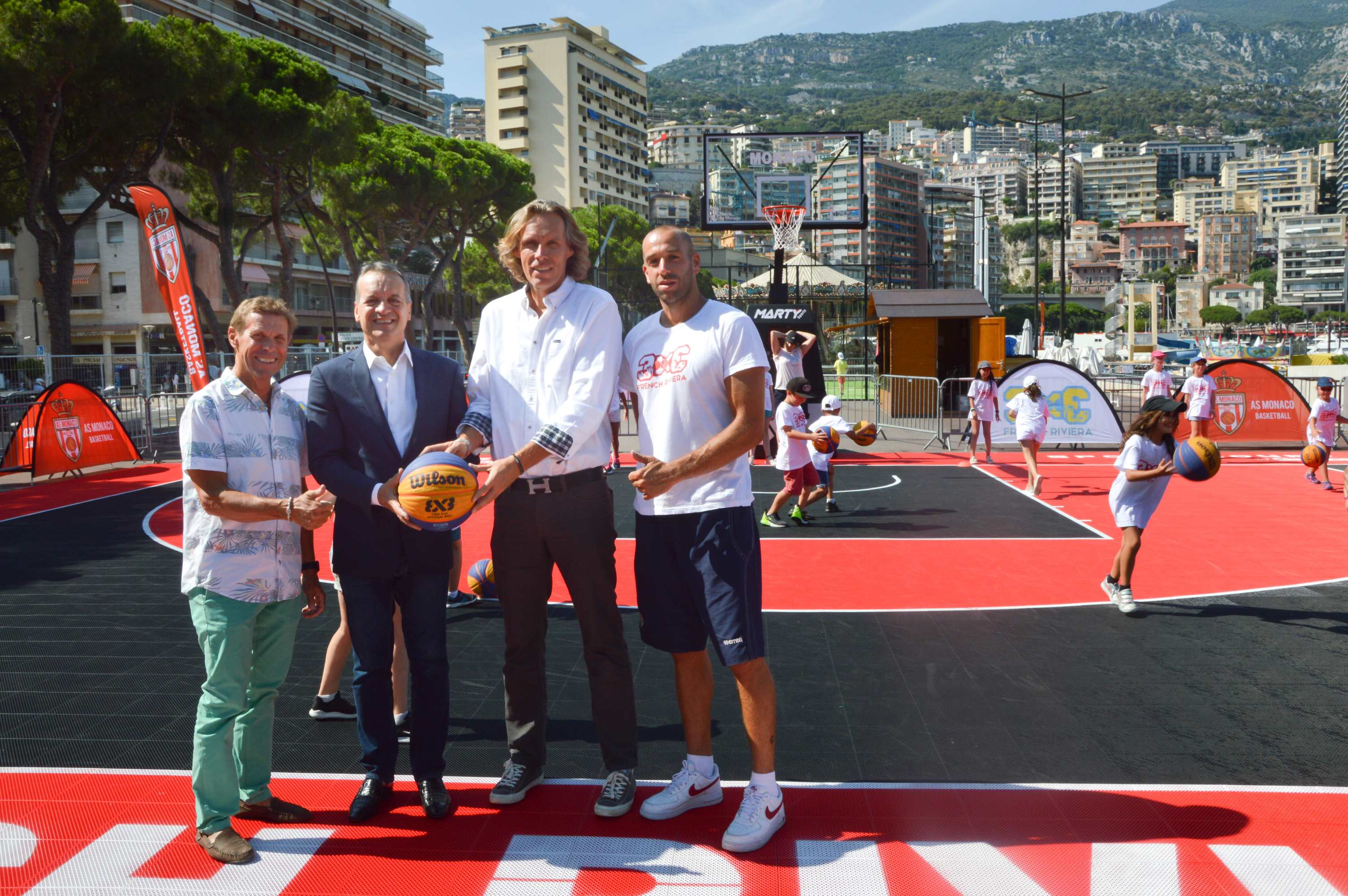 Animation basket sur le Port de Monaco